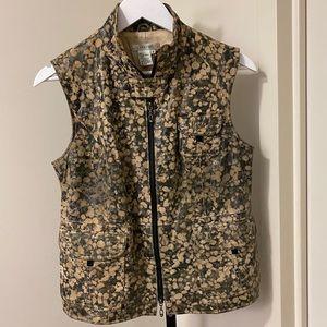 VINTAGE Camo Print Leather Vest